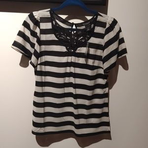 Whbm striped shirt small